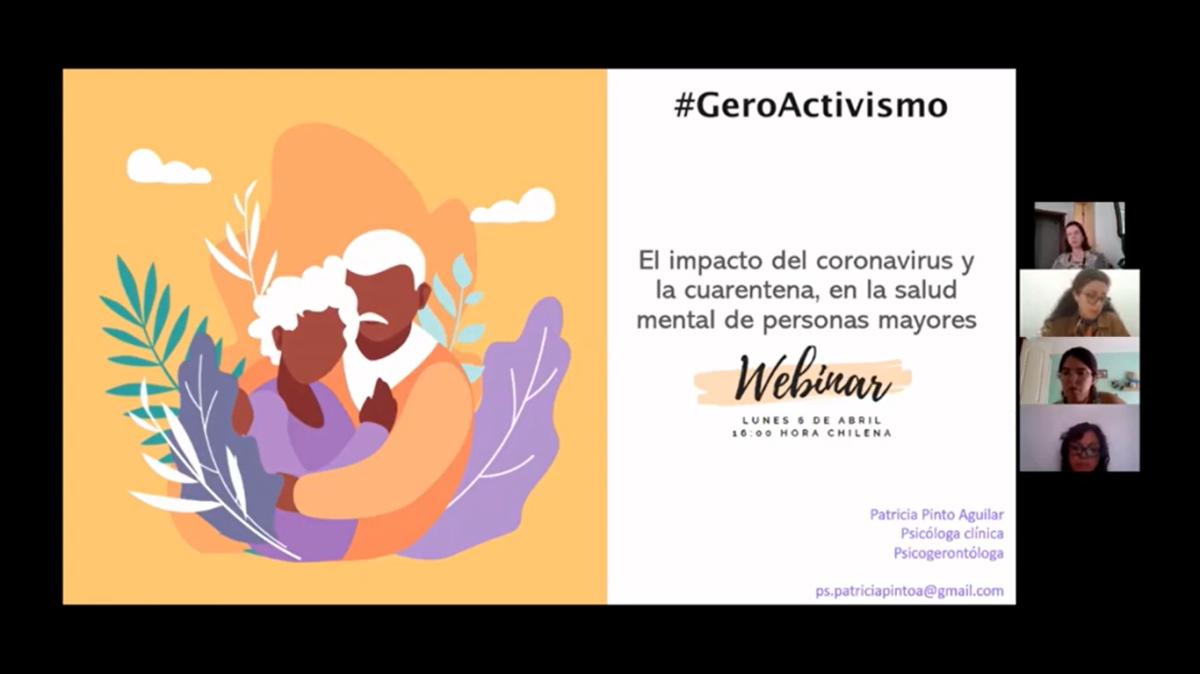 Webinar: Salud Mental, personas mayores y Coronavirus. Ps. Patricia Pinto. Abr2020