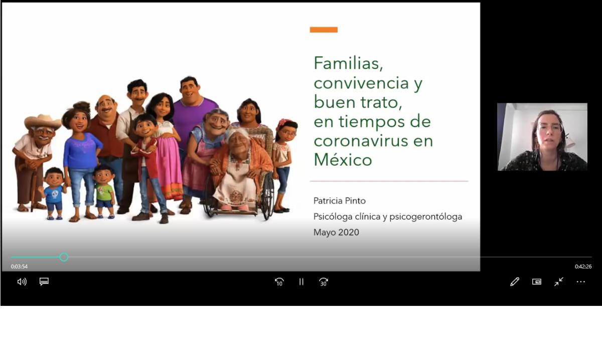 Charla: Familias, convivencia y buen trato en tiempos de coronavirus. Ps. Patricia Pinto. May2020