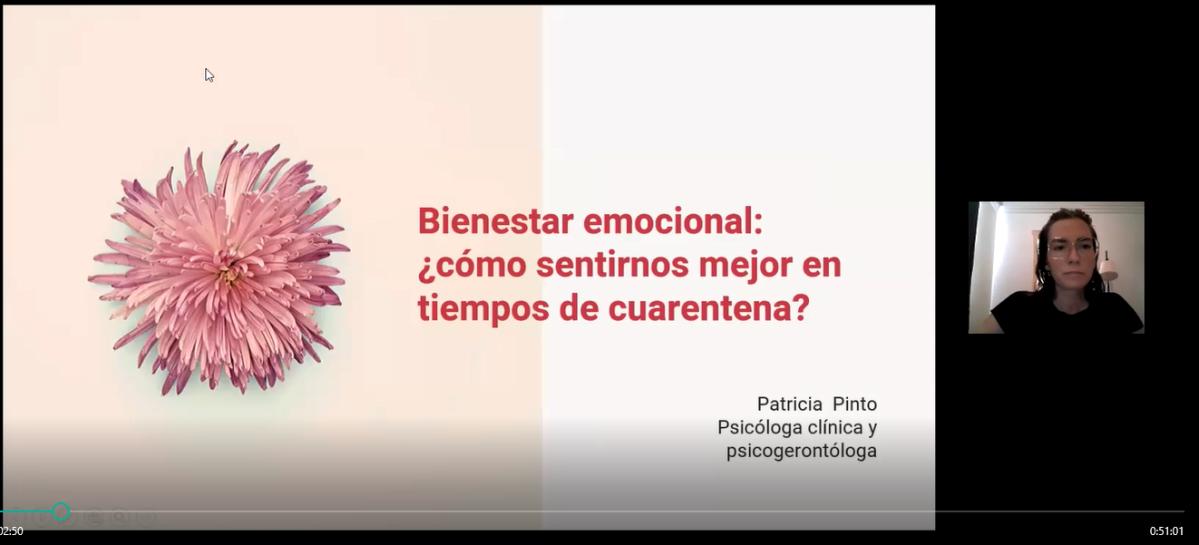 Charla: Bienestar emocional ¿cómo sentirnos mejor en tiempos de cuarentena? Autora Ps. Patricia Pinto. Abr2020